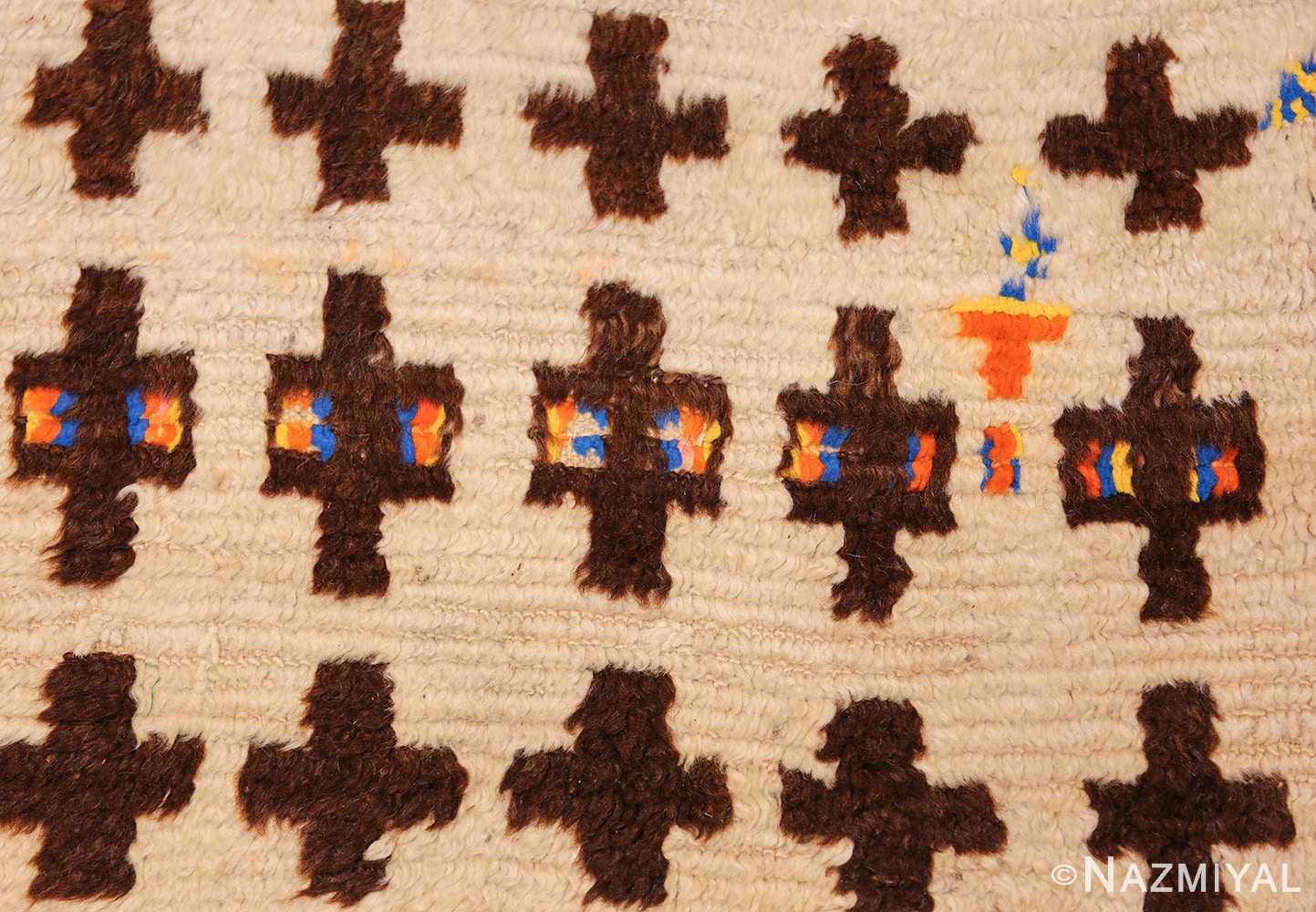 vintage moroccan rug 46434 colors Nazmiyal