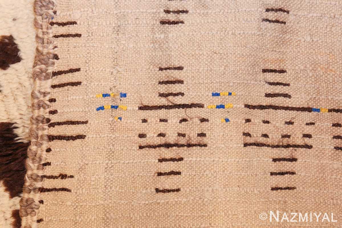 vintage moroccan rug 46434 weave Nazmiyal