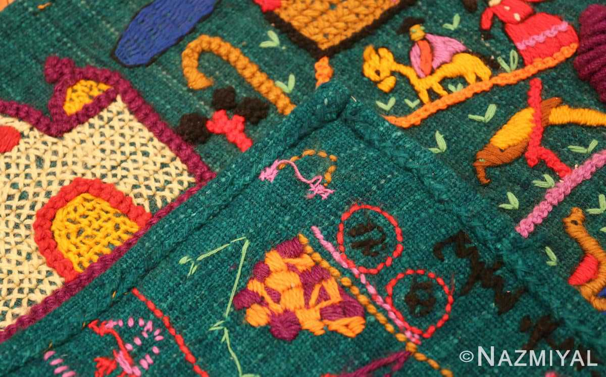 Weave Vintage Colombian embroidery 46453 by Nazmiyal