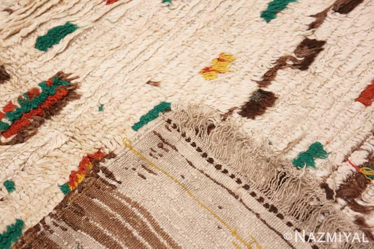 Weave detail Vintage Moroccan rug 46433 by Nazmiyal