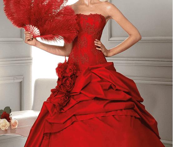Red Valentine's Day Dress by Nazmiyal