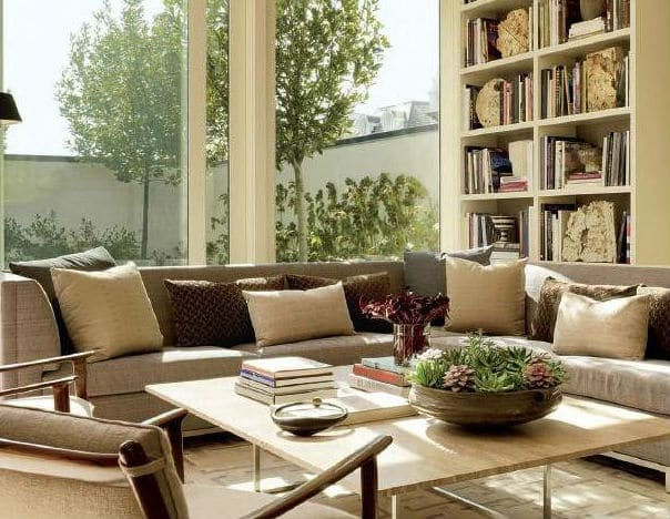 Neutral Color Palettes in Living Room Interior Decor