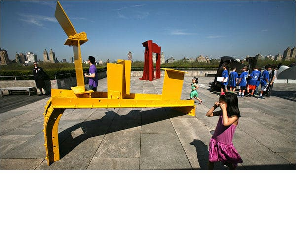 Anthony Caro Sculptures, Met Rooftop Nazmiyal