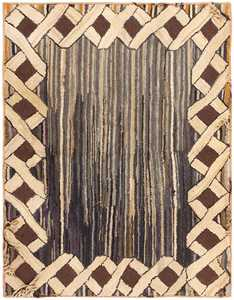 Antique Hooked American Rug 46524 Detail/Large View
