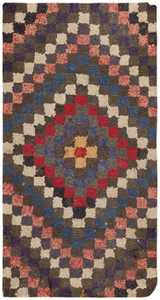 Antique Hooked American Rug 46525 Detail/Large View