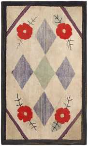 Antique Hooked American Rug 46526 Detail/Large View
