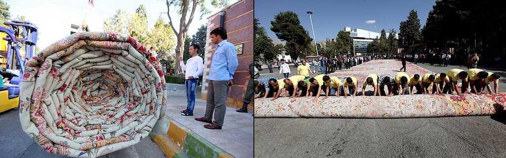 The record breaking carpet measures 2400 square meters. Photo: MEHR
