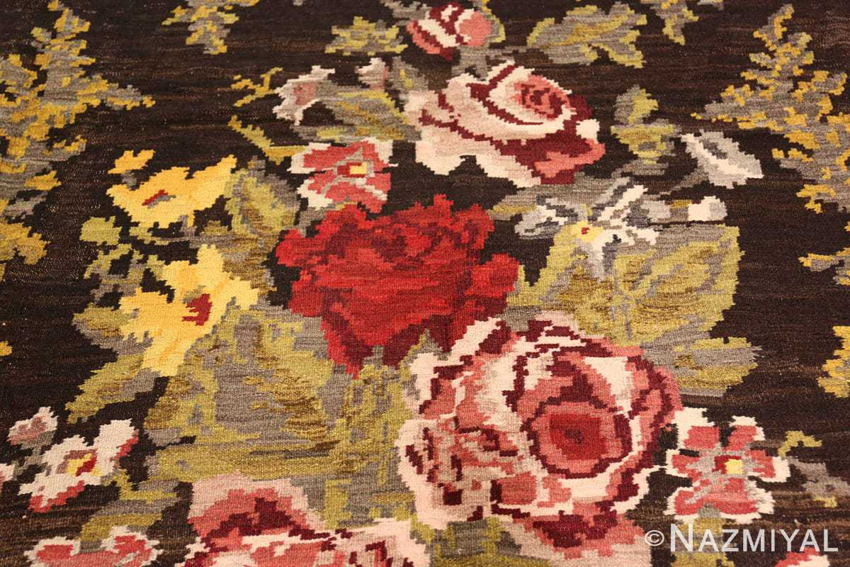 antique bessarabian kilim 46536 flowers Nazmiyal