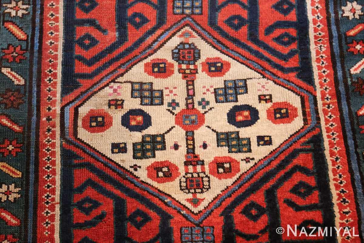 antique caucasian kazak runner rug 46425 center Nazmiyal