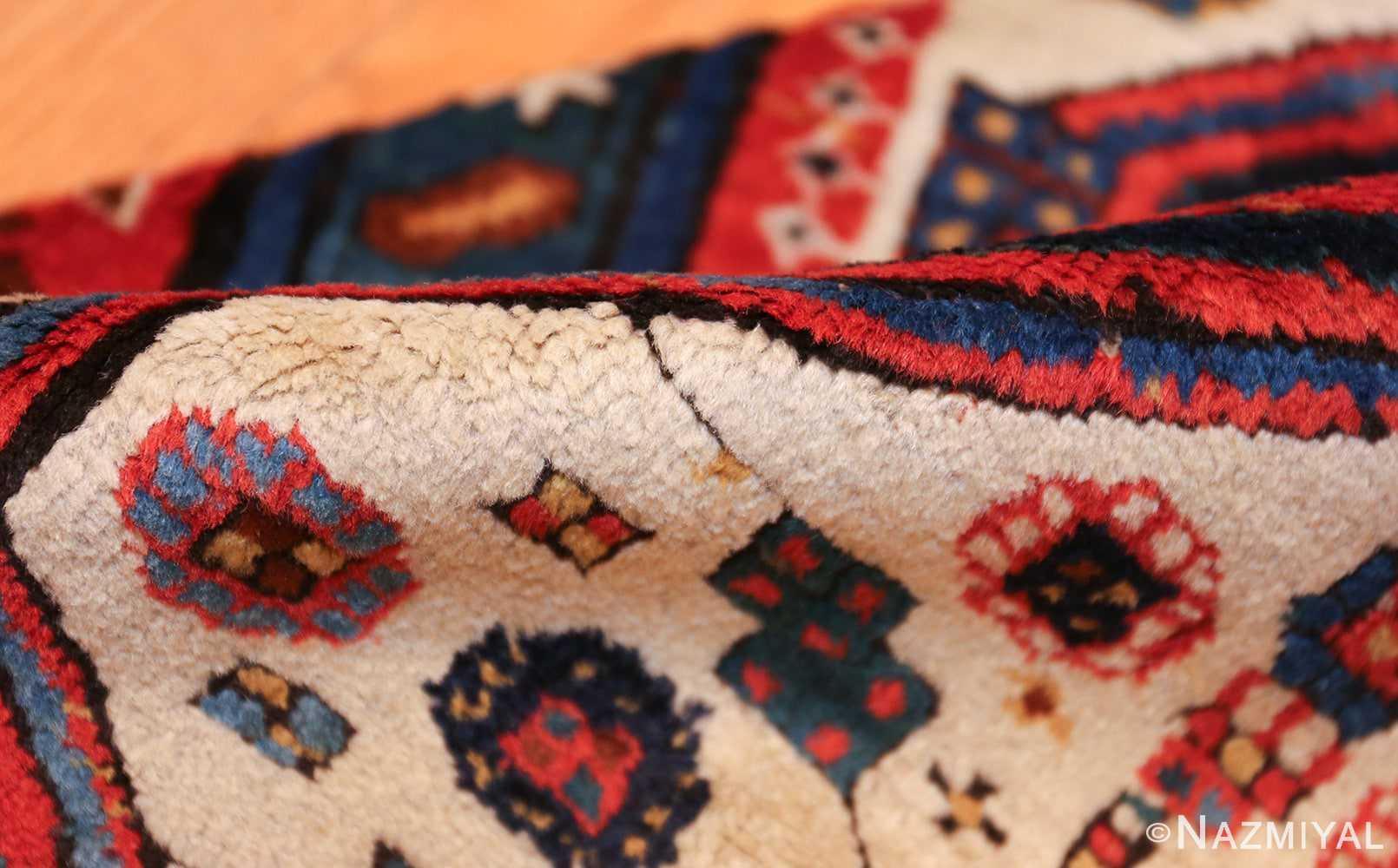 antique caucasian kazak runner rug 46425 pile Nazmiyal