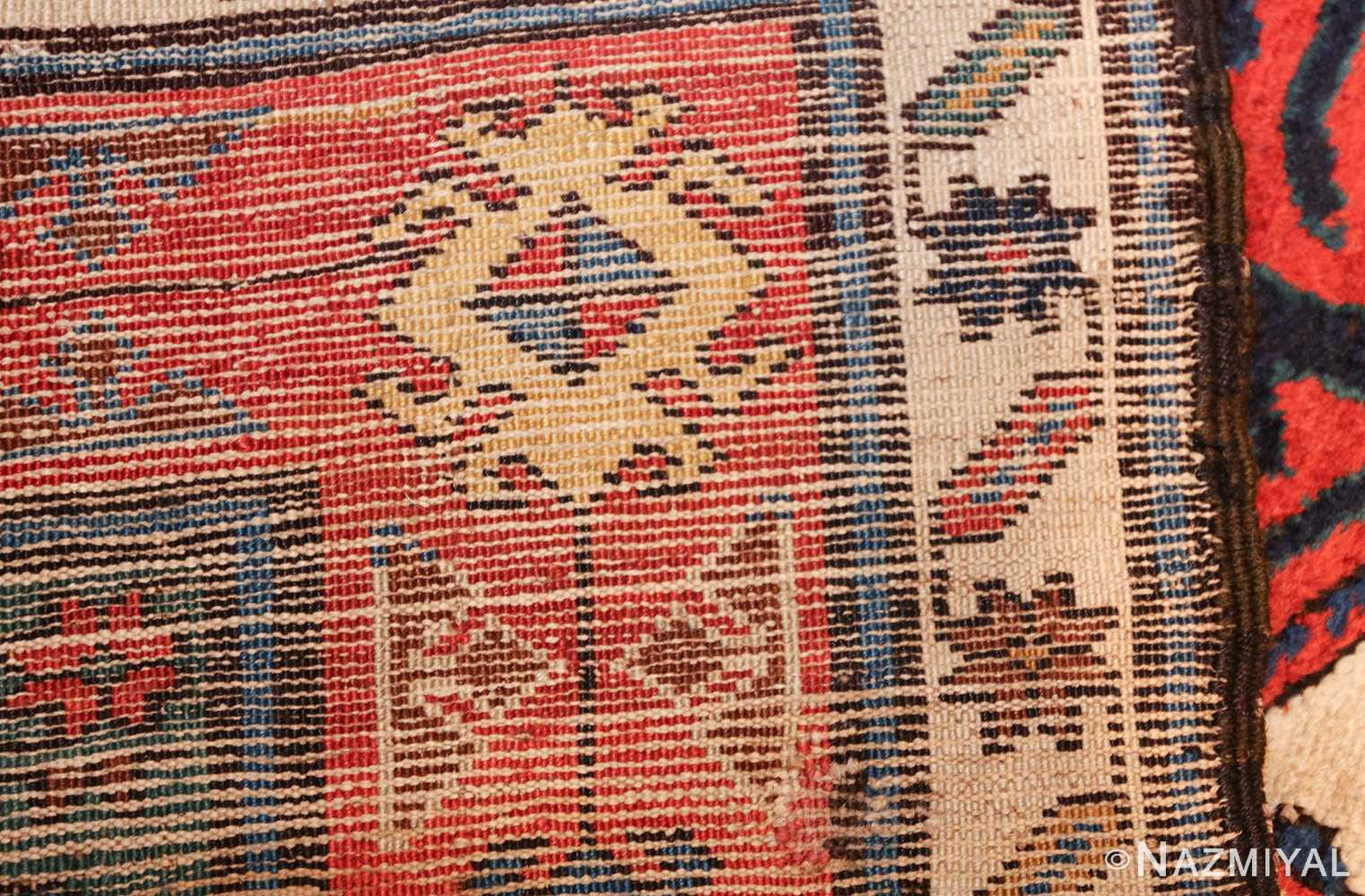 antique caucasian kazak runner rug 46425 weave Nazmiyal