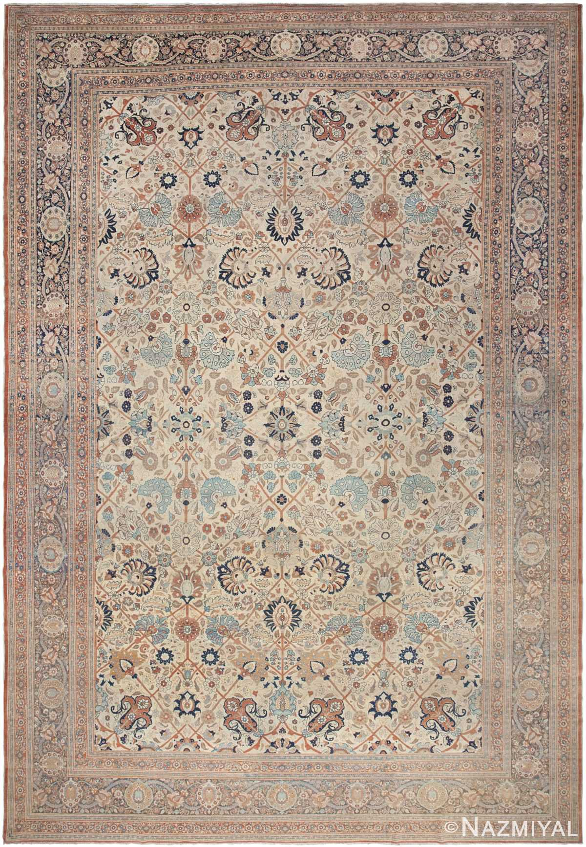 Antique Tabriz Rug 44645 Nazmiyal