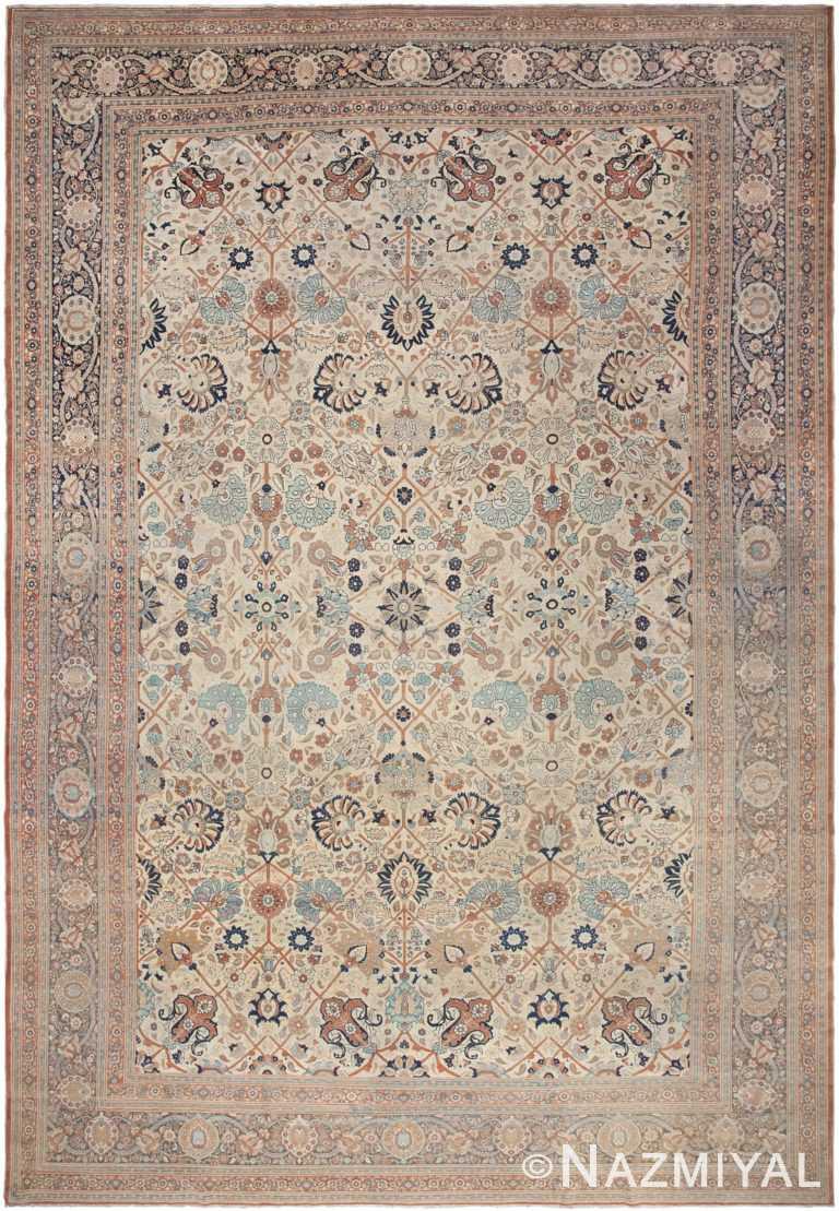 Antique Tabriz Rug 44645 Nazmiyal