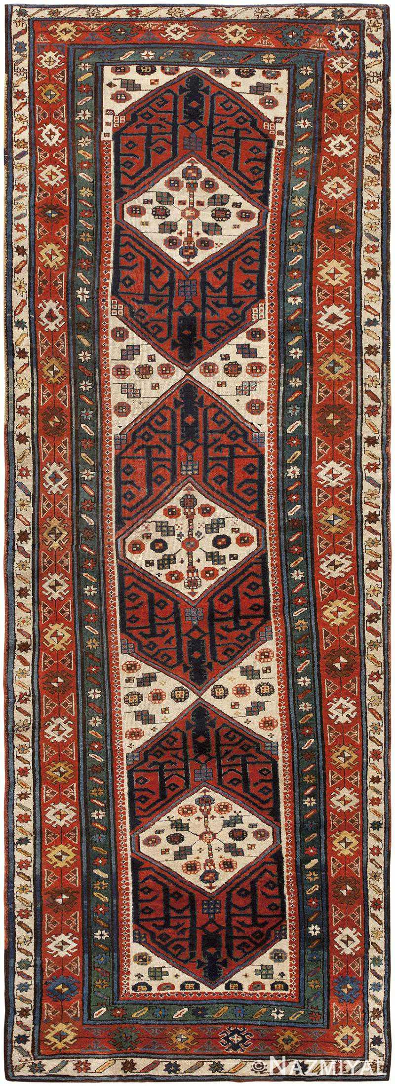 Antique Caucasian Runner Rug 46425 Nazmiyal