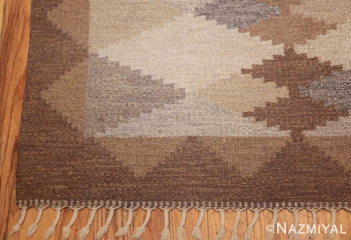 vintage swedish rug 46537 corner Nazmiyal