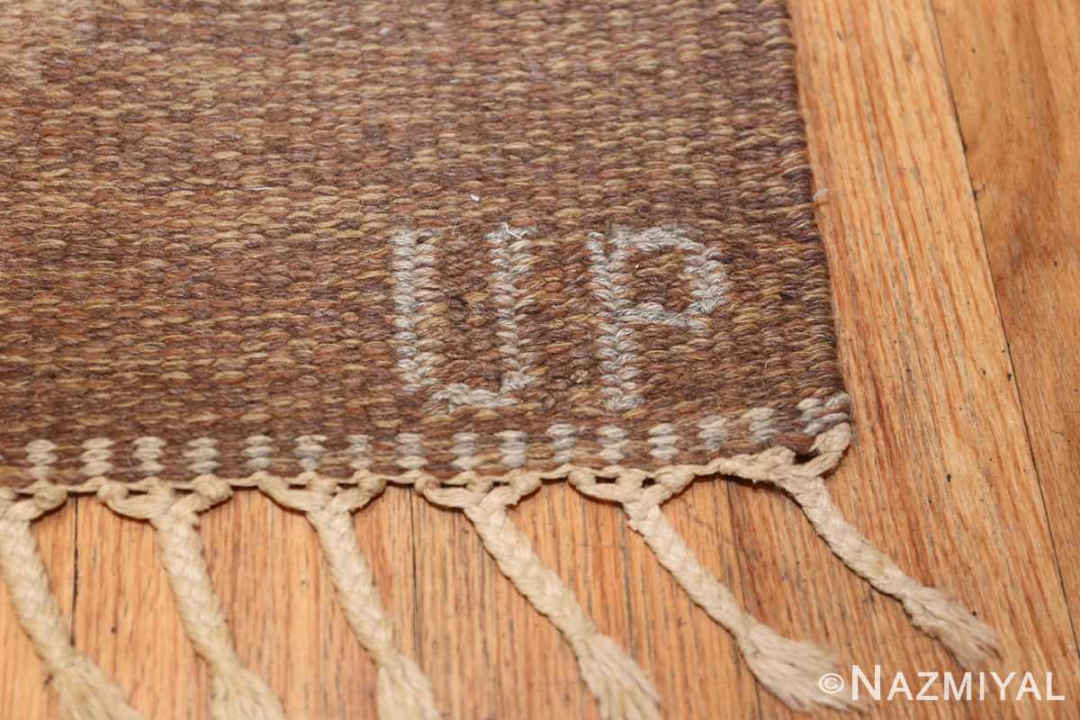 vintage swedish rug 46537 signature Nazmiyal