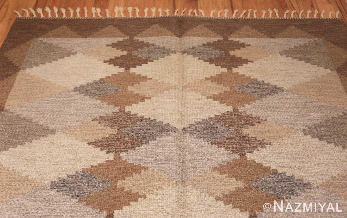 vintage swedish rug 46537 top Nazmiyal