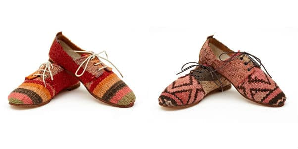 Swatches of Kilim Rugs Update the Oxford Shoe