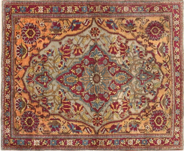Antique Kashan Rugs by Nazmiyal