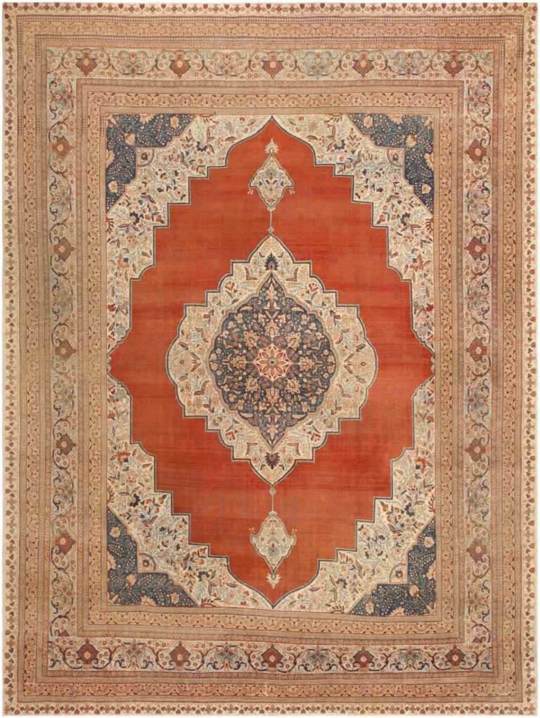 Antique Tabriz Persian Rug 45765 Detail/Large View