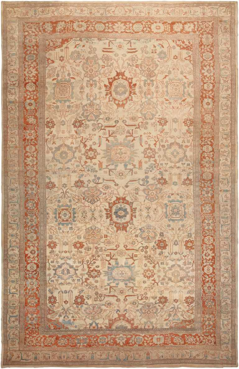 Antique Ziegler Sultanabad Rug 46452 Detail/Large View