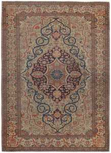 Antique Persian Kashan Rug 46541 Detail/Large View