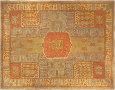 Antique Oushak Rug from Nazmiyal