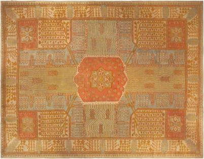 Antique Oushak Rug from Nazmiyal