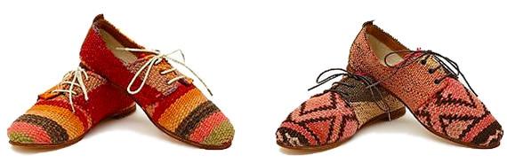 Oxford Shoes Made From Moroccan Kilim Rugs - Nazmiyal
