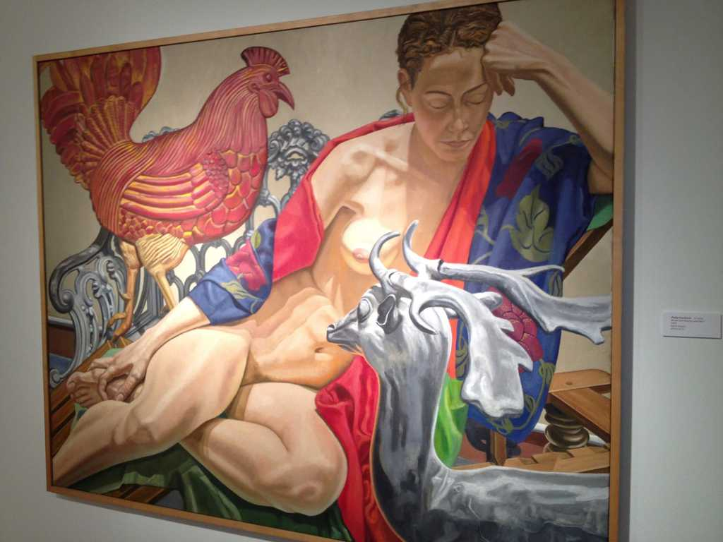 Model with Rooster and Deer from Philip Pearlstein at the New York City METRO Show 2013 by Nazmiyal