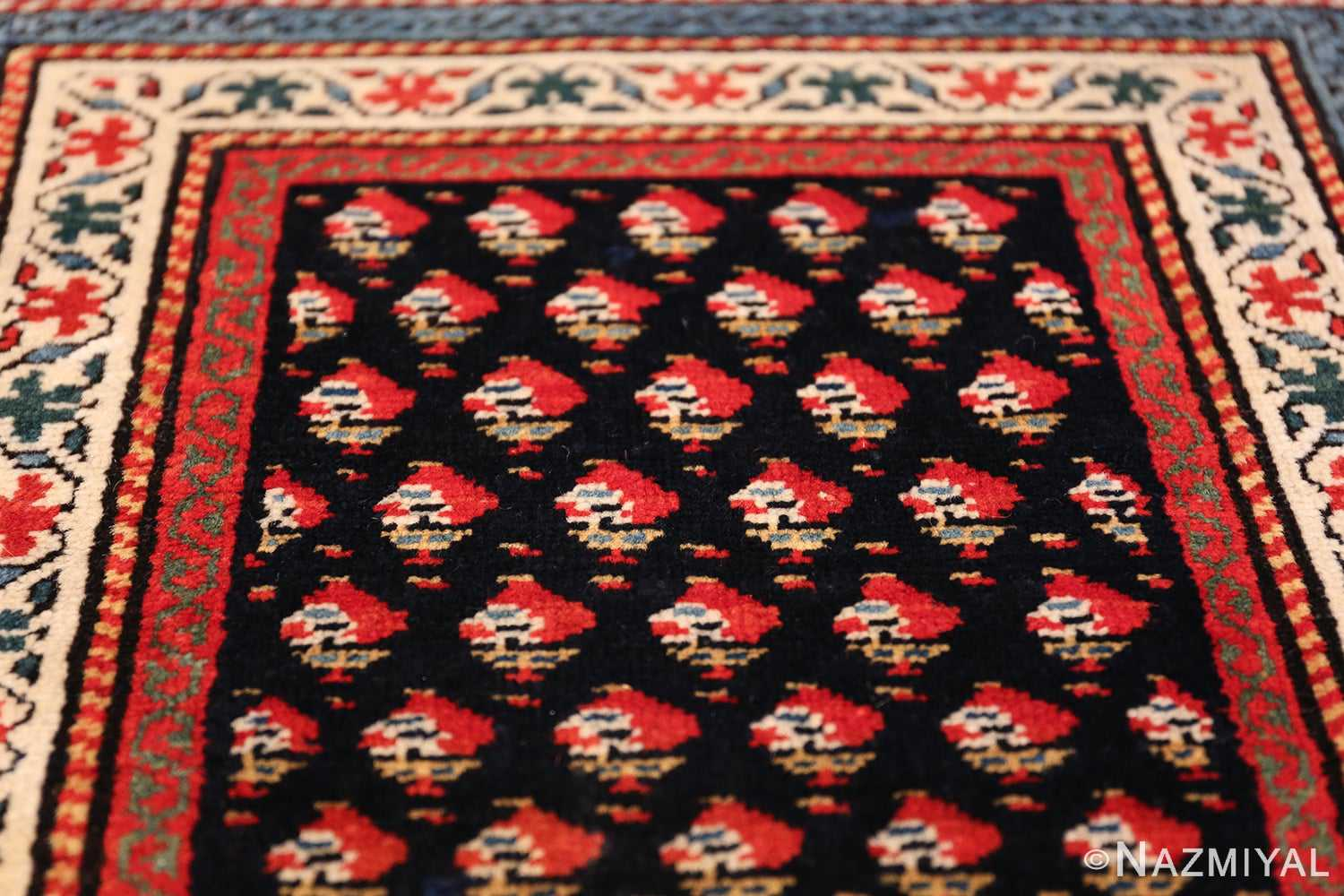 Antique Caucasian Shirvan Rug 44502 Tiny Flowers Nazmiyal