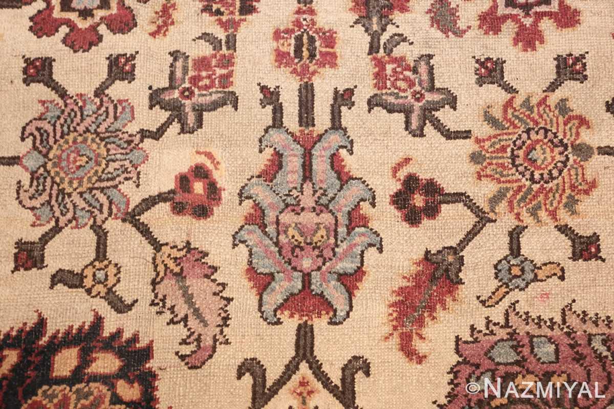 antique indian agra rug 44429 blue Nazmiyal