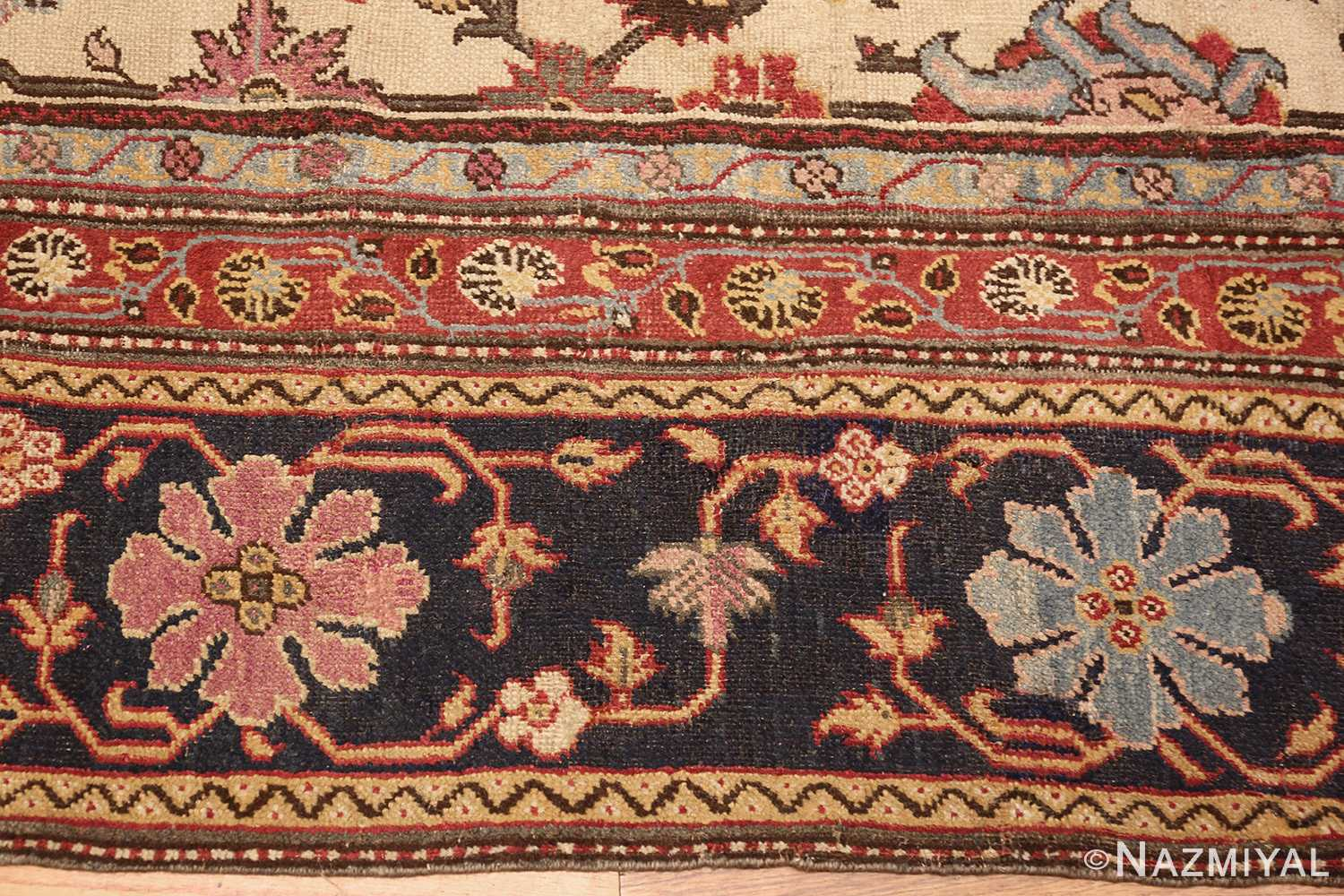 antique indian agra rug 44429 border Nazmiyal