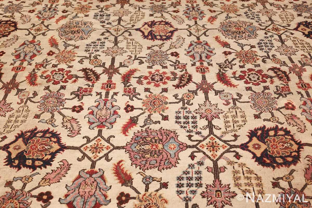 antique indian agra rug 44429 field Nazmiyal
