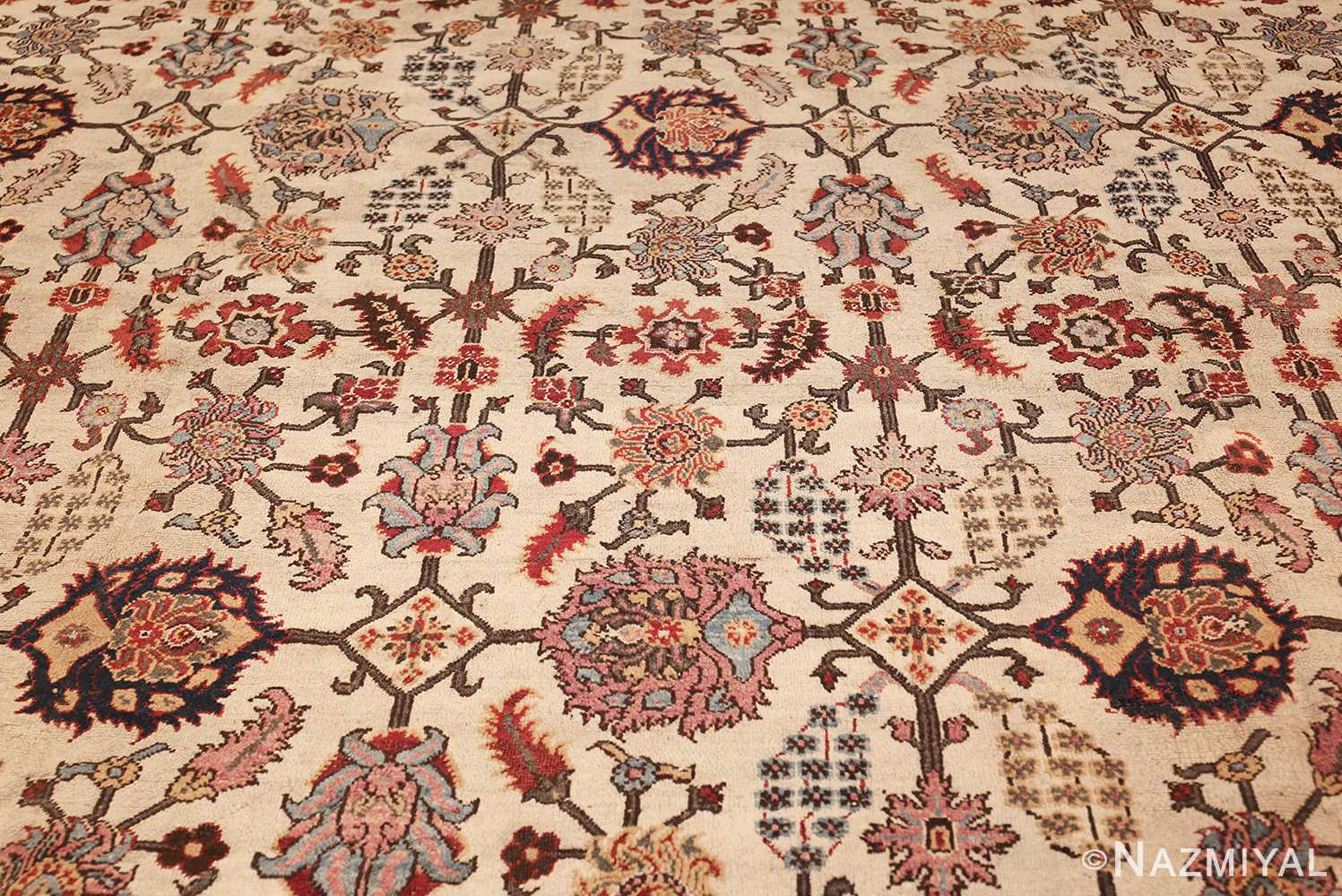 antique indian agra rug 44429 field Nazmiyal
