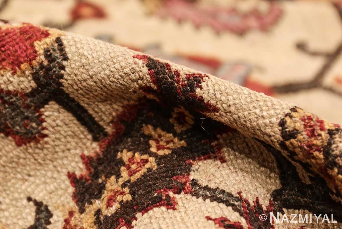 antique indian agra rug 44429 pile Nazmiyal