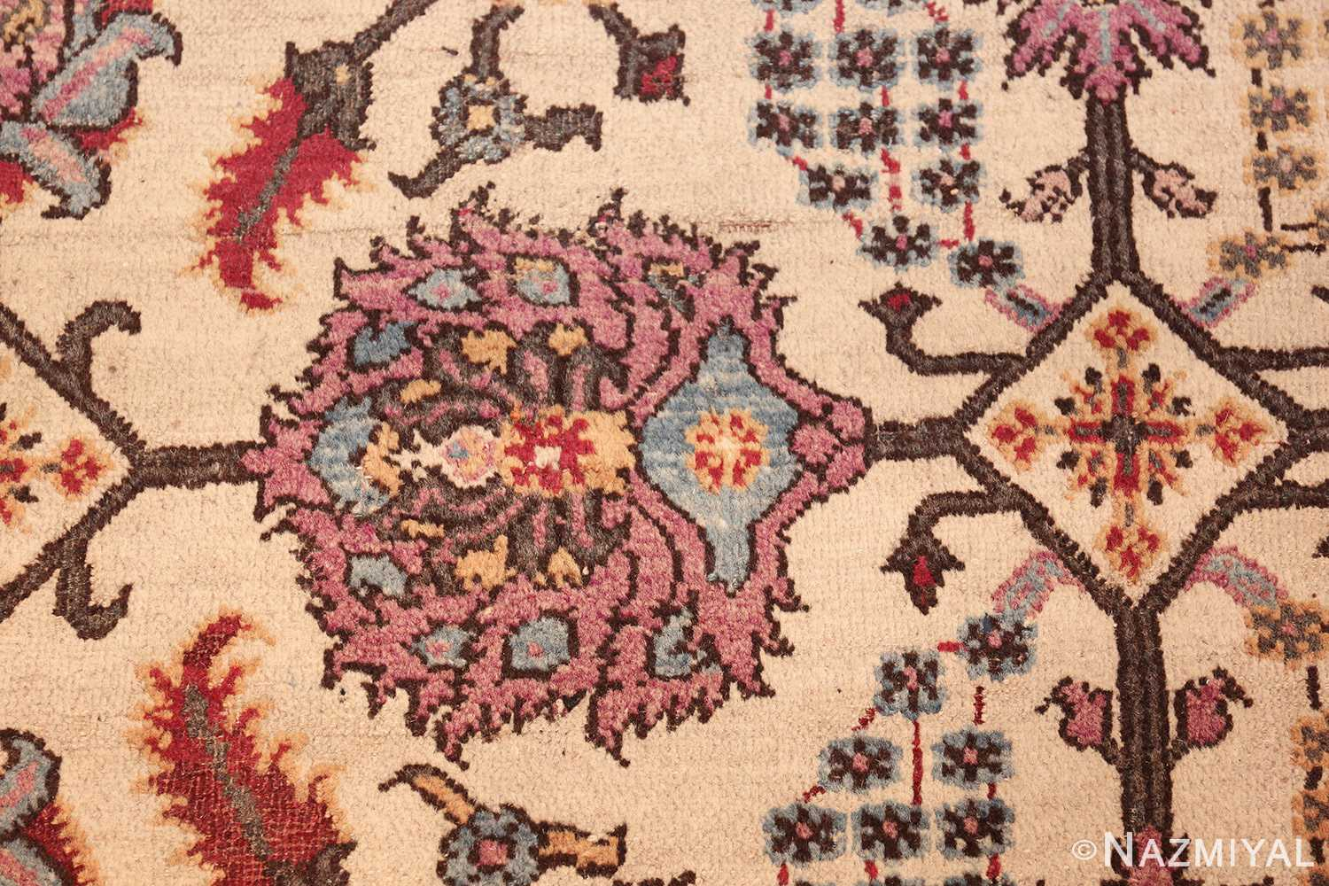 antique indian agra rug 44429 purple Nazmiyal