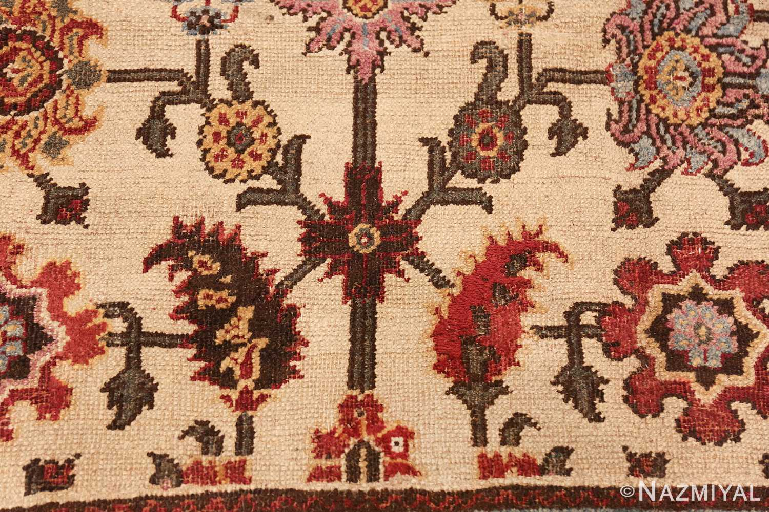 antique indian agra rug 44429 top Nazmiyal