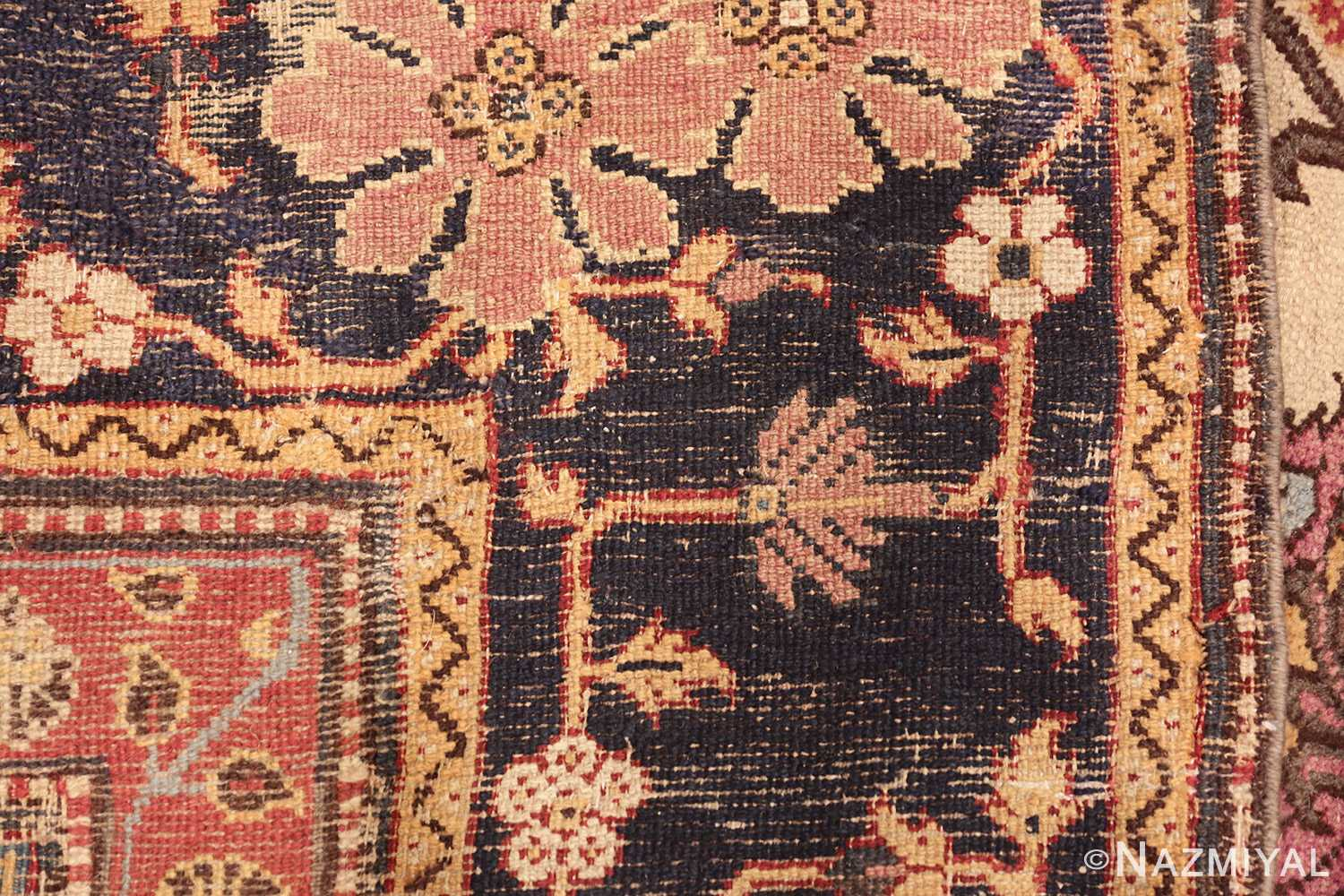 antique indian agra rug 44429 weave Nazmiyal