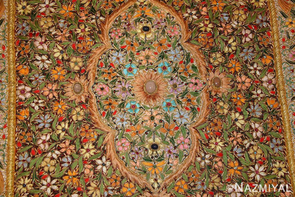 antique indian tapestry gem stone rug 46559 design Nazmiyal