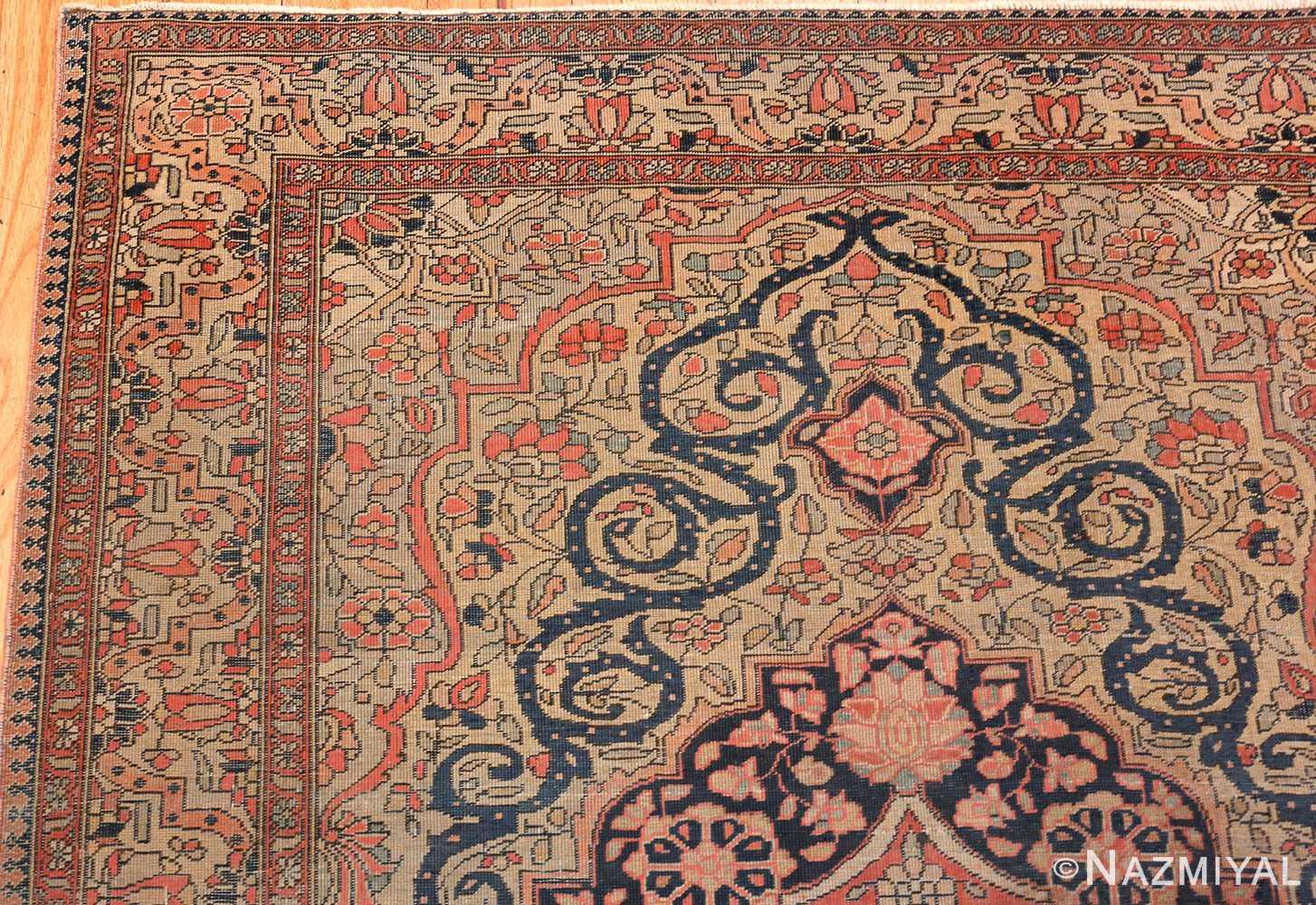 Antique Persian Mohtashem Kashan Rug 46541 By Nazmiyal Ny
