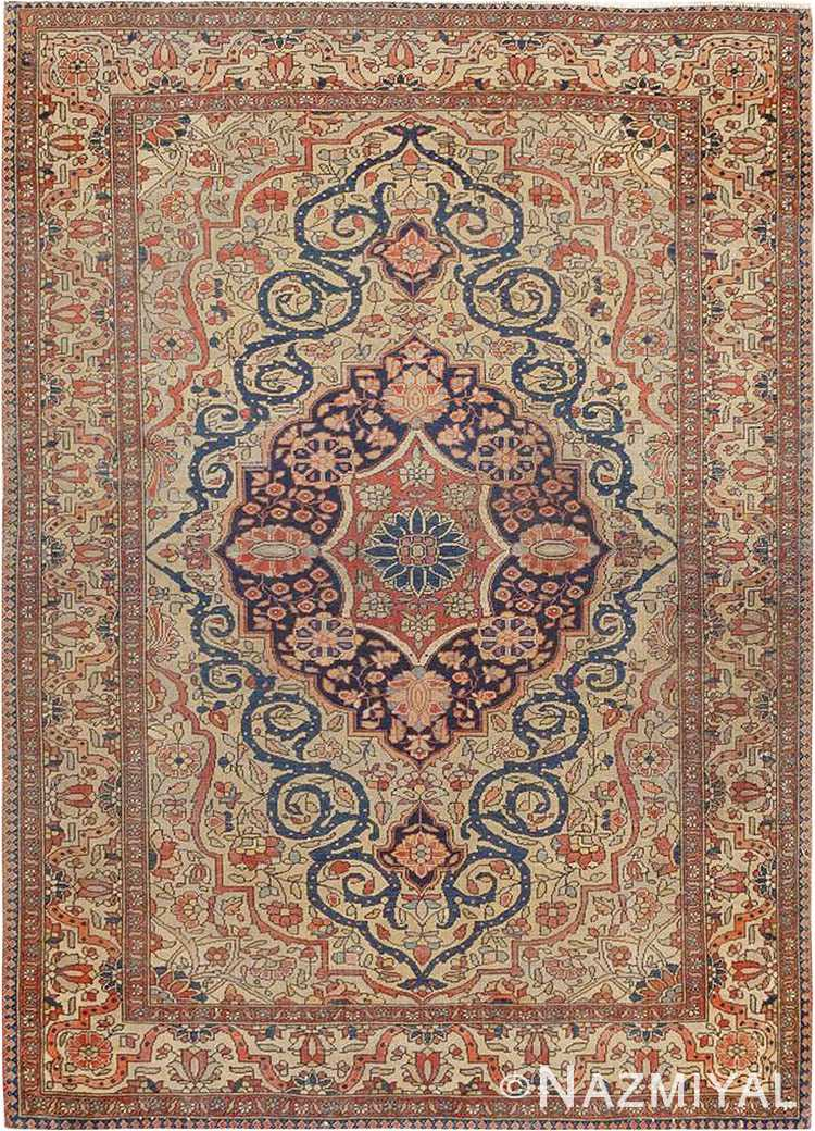 Small Fine Antique Persian Mohtasham Kashan Rug #46541 by Nazmiyal Antique Rugs