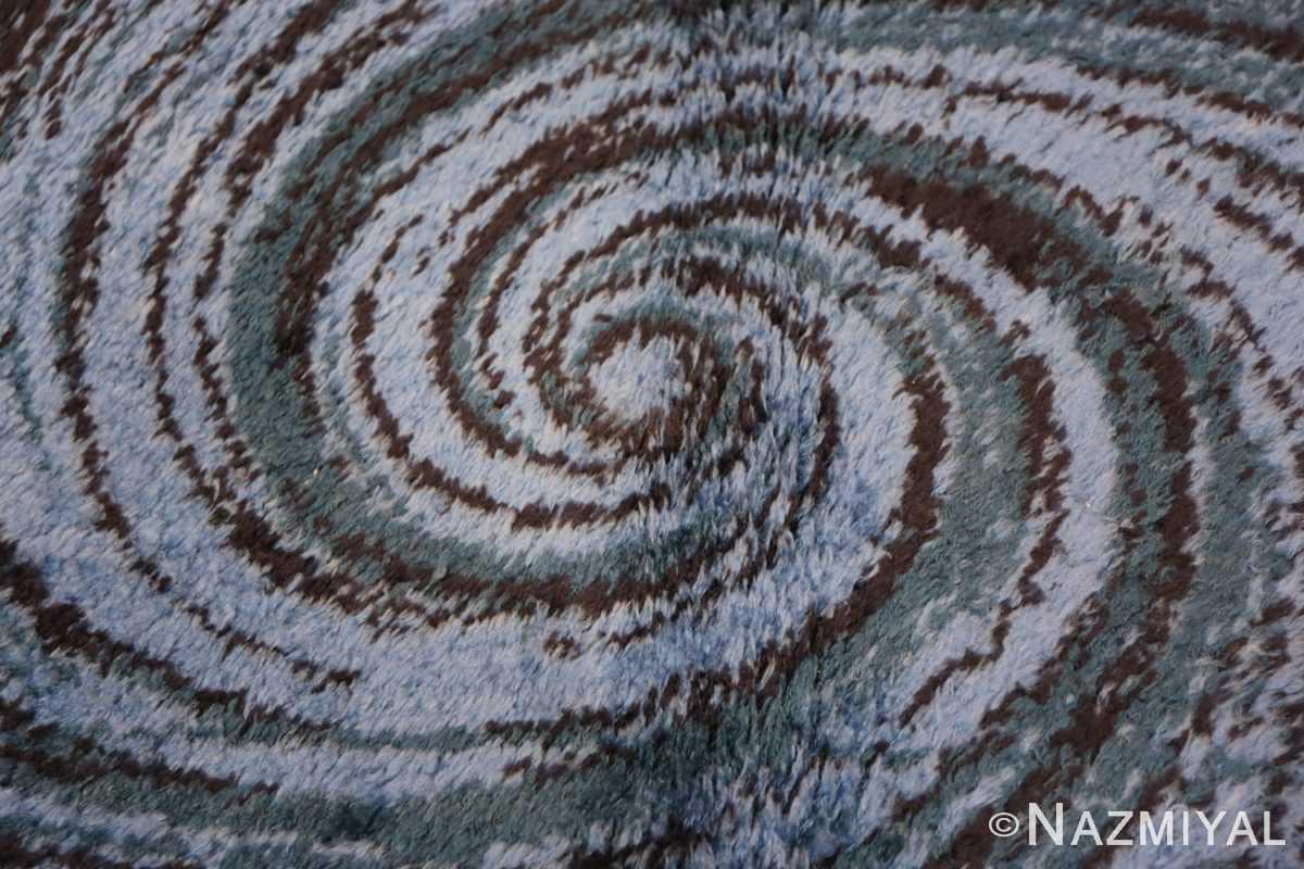 Background vintage Swedish deco rug 46616 by Nazmiyal