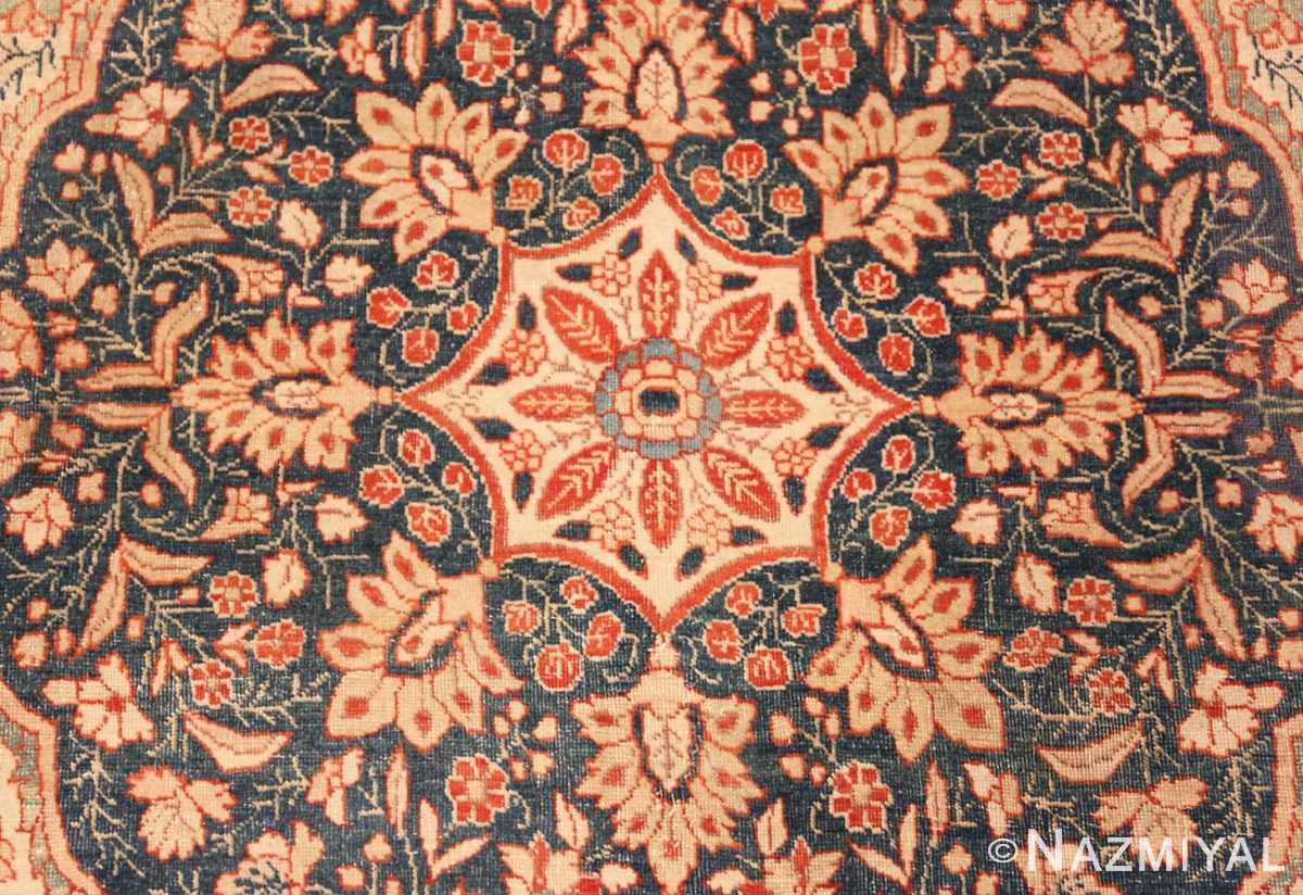 Close-up Antique Persian Tabriz rug 45765 by Nazmiyal