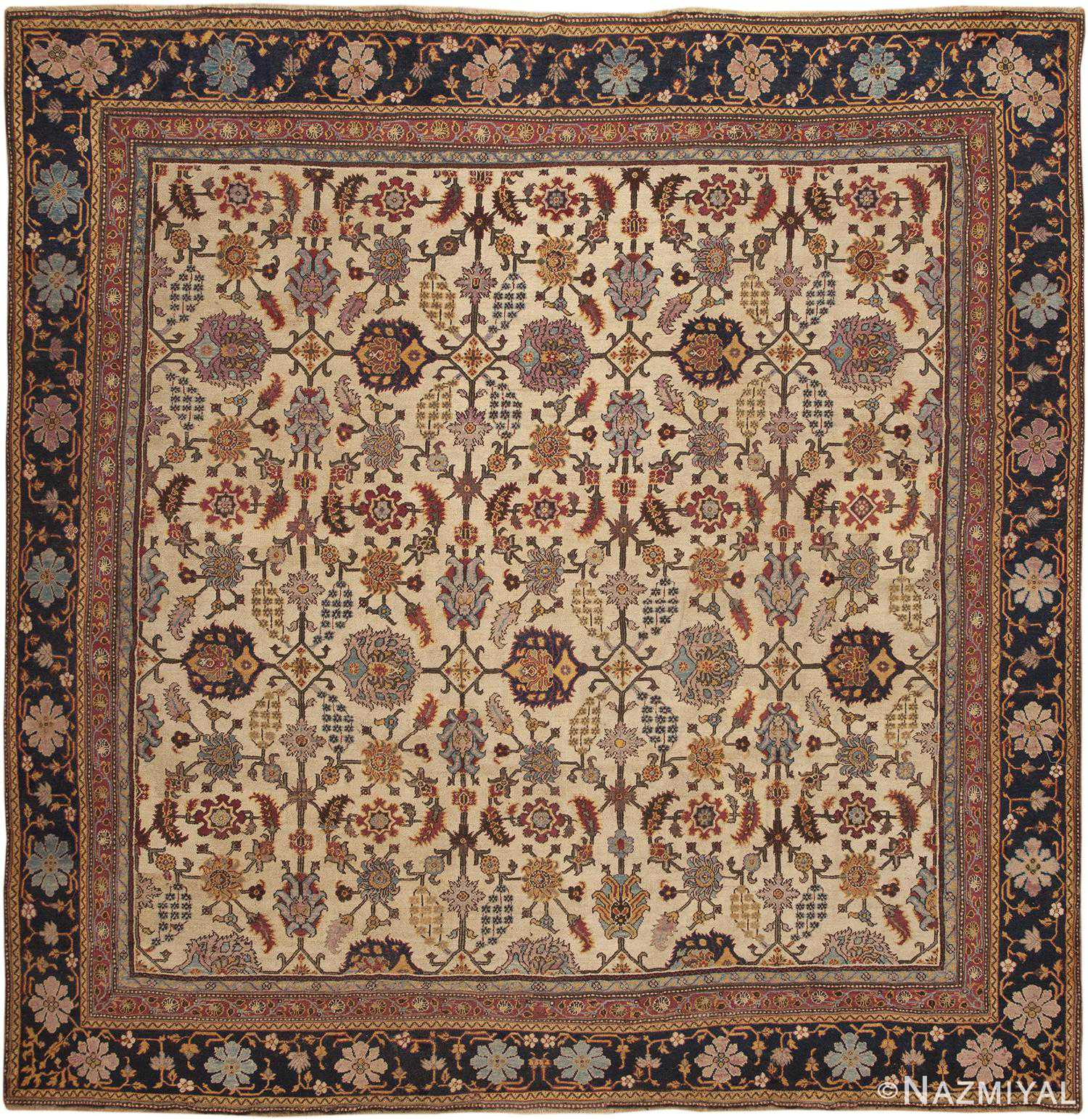 Antique Indian Agra Rug 44429 Detail/Large View