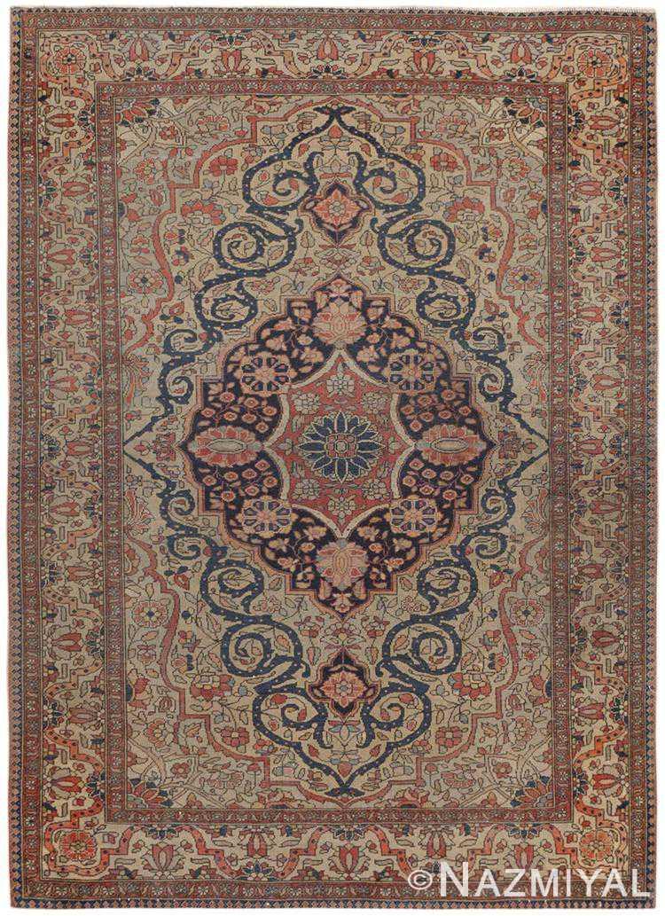 Antique Persian Mohtasham Kashan Rug 46541 by Nazmiyal