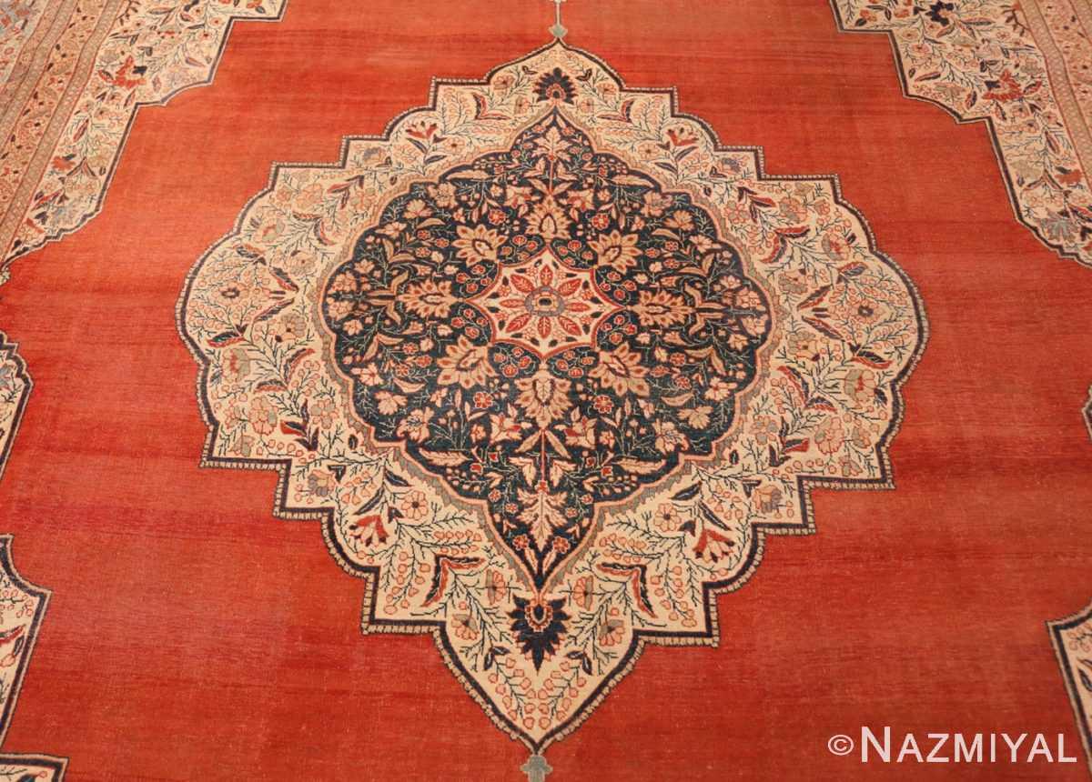 Medallion Antique Persian Tabriz rug 45765 by Nazmiyal