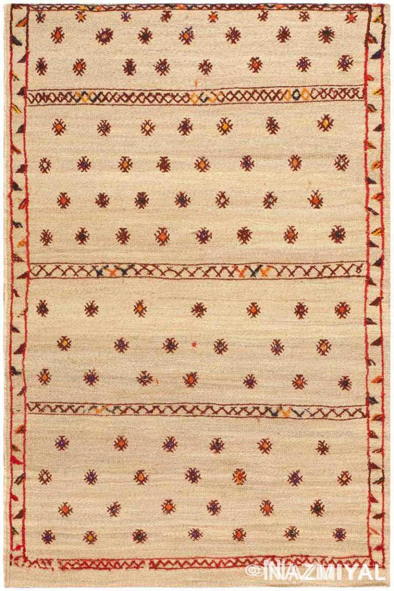 Small Vintage Sisal Kilim Moroccan Rug #46627 by Nazmiyal Antique Rugs