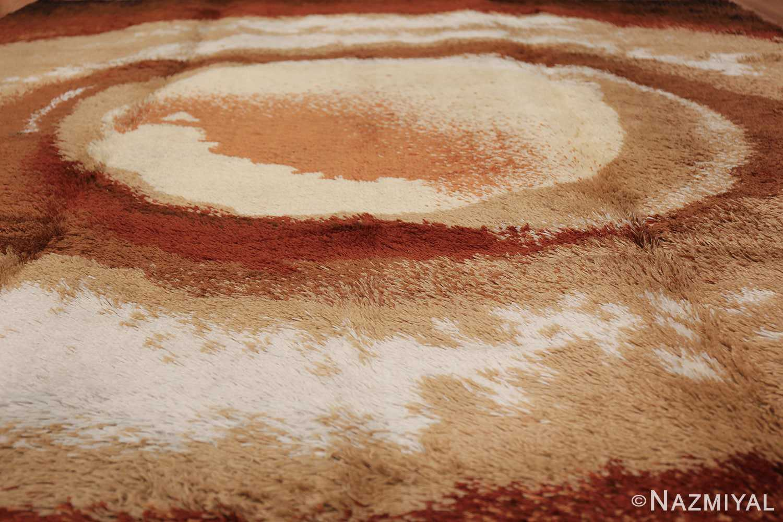 Vintage Swedish Deco Rug 46608 Caramel Foam Nazmiyal