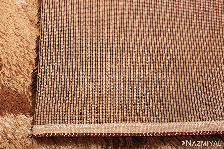 Vintage Swedish Deco Rug 46608 Woven Knots Nazmiyal